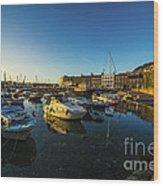 St Hellier Harbour  Wood Print