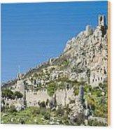 St Hilarion Castle Wood Print
