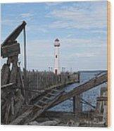 St. Ignace Lighthouse Wood Print