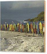 St James Beach Wood Print