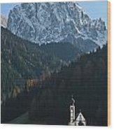 St. Johann With Sass Rigais Wood Print