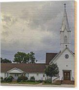 St John Lutheran Church Of Prairie Hill Wood Print