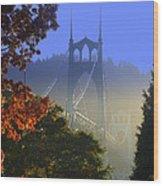 St. Johns Bridge Wood Print by DerekTXFactor Creative