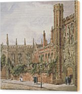 St. Johns College, Cambridge, 1843 Wood Print
