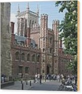 St. Johns College Cambridge Wood Print