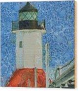 St. Joseph Lighthouse Lake Michigan Wood Print