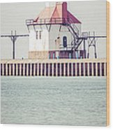 St. Joseph Lighthouse Vertical Panorama Photo Wood Print