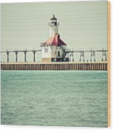 St. Joseph Lighthouse Vintage Picture  Wood Print