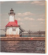 St. Joseph Lighthouse Vintage Picture  Photo Wood Print