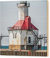 St. Joseph Michigan Lighthouse Picture  Wood Print by Paul Velgos