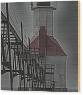 St. Joseph North Pier Lighthouse Lake Michigan Wood Print