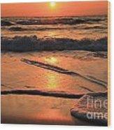 St. Joseph Sunset Swirls Wood Print