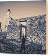 St. Josephs Church Maui Hawaii Wood Print by Edward Fielding