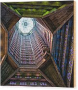 St Joseph's Spire Wood Print by Dave Bowman