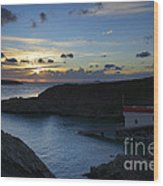 St Justinian Sunset Wood Print