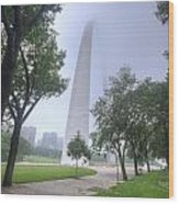 St Louis Arch In Spring Wood Print