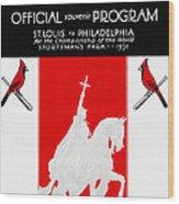 St. Louis Cardinals 1931 World Series Program Wood Print