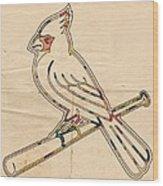 St Louis Cardinals Logo Art Wood Print