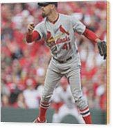 St. Louis Cardinals Vs. Cincinnati Reds Wood Print