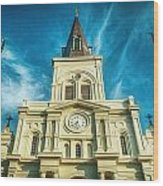 St. Louis Cathedral Wood Print by Brenda Bryant