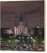 St. Louis Cathedral In Jackson Square Wood Print