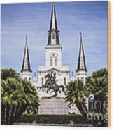St. Louis Cathedral In New Orleans  Wood Print