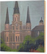 St. Louis Cathedral Wood Print by Lilibeth Andre