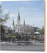 St. Louis Cathedral New Orleans Wood Print