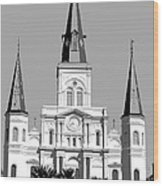 St Louis Cathedral Poster 1 Wood Print