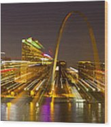 St Louis Skyline With Special Zoom Effect Wood Print