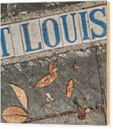 St Louis Street Tiles In New Orleans Wood Print