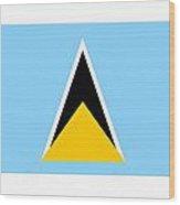 St. Lucia Flag Wood Print