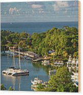 St Lucia Harbor Wood Print