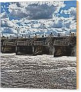 St Lucie Lock And Dam 2 Wood Print by Dan Dennison
