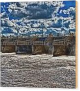St Lucie Lock And Dam 3 Wood Print