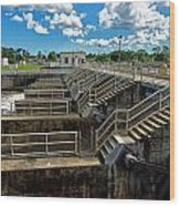 St Lucie Lock And Dam Wood Print by Dan Dennison