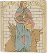 St Luke The Evangelist Wood Print by English School