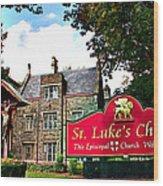 St Lukes Church Wood Print