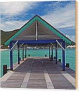 St. Maarten Pier Wood Print