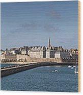 St Malo Wood Print
