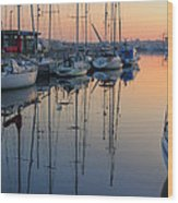 St. Malo Sunrise Brittany France Wood Print