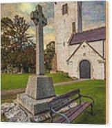 St. Marcellas Celtic Cross Wood Print