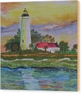 St. Marks Lighthouse-2 Wood Print