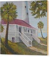 St. Marks Lighthouse Wood Print