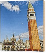 St Marks Square - Venice Italy Wood Print