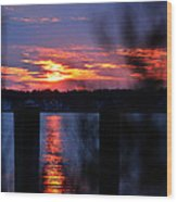 St. Marten River Sunset Wood Print