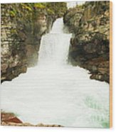 St Mary Falls Glacier National Park Wood Print