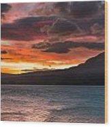 St. Mary Lake Dawn 2 Wood Print