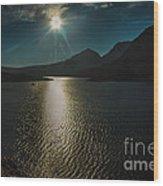 St Mary Lake Wood Print