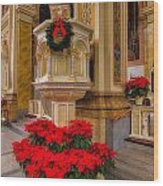St. Mary Of The Angels Christmas Lectern Wood Print